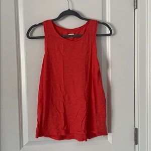 Orangey red tank top